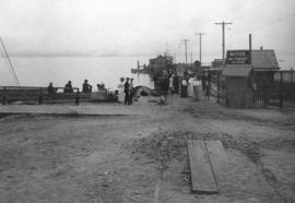 [The North Vancouver Ferry landing after a street car lost control and went into Burrard Inlet]