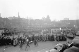 Armistice Day crowd at Cambie Street grounds