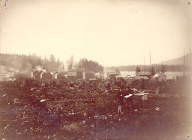 [View of Granville looking west from Westminster Avenue (Main Street) and Oppenheimer (Cordova) S...