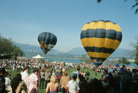 Hot air balloons at Stanley Park