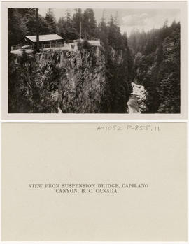 View from Suspension Bridge, Capilano Canyon, B.C. Canada