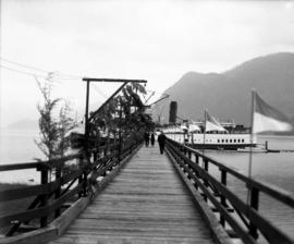 Union steamship wharf with S.S. Capilano