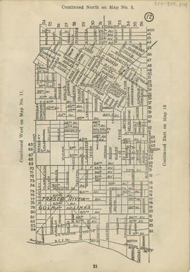 Sectional map and street directory of Vancouver : [Boundary Road to King Edward Avenue to Nanaimo...