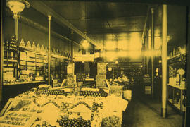 Grocery store interior. H.A. Edgett at 153 West Hastings Street