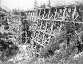 [C.P.R. trestle under construction] 100' span - 6 miles north of North Bend
