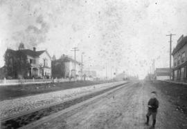 [Westminster Avenue (Main Street) looking south from 6th Avenue]
