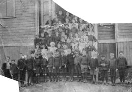 [The first class outside North Vancouver Public School at the corner of 4th Street and Chesterfie...
