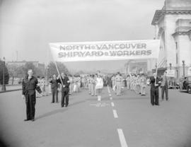 North Vancouver Shipyard Workers [in parade]