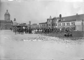 Bands of the 72nd Regiment [on the Cambie Street grounds in front of the Drill Hall, Beatty Street]