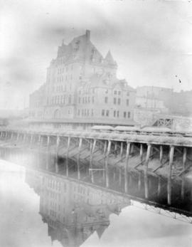 [View of the second C.P.R. station from the water]