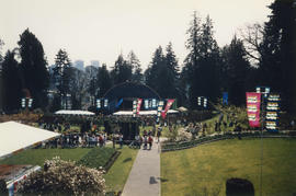 Vancouver Centennial birthday cake at the Stanley Park Pavilion Gardens