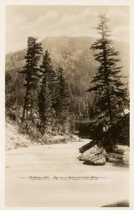Cheakamus River [B.C.] along line of Pacific Great Eastern Railway