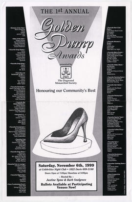 The 1st annual golden pump awards : presented by The Dogwood Monarchist Society : Saturday, Novem...