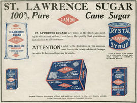 "St. Lawrence Sugar advertisement for ""100% pure diamond cane sugar"""