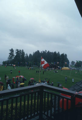 View of the Centennial Commission's Canada Day Celebration from Brockton Point Clubhouse deck