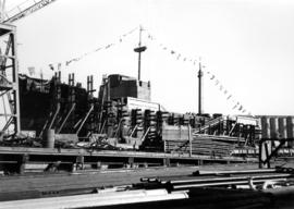 "[Launching of the S.S. ""Chilkoot""]"