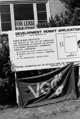 Angles Aug/84 : VGCC [development permit application sign]