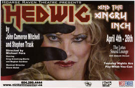 Hoarse Raven Theatre presents Hedwig and the Angry Inch : April 4th-26th : The Lotus Sound Lounge...