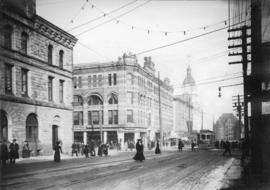 [Granville Street at Pender Street, looking north]