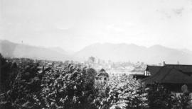 [View of downtown Vancouver from the Fairview-Mount Pleasant area looking north]