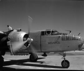 [Water bomber for WenAir Co. being filled at the Cranbrook Airport]