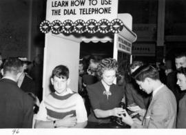 B.C. Telephone Co. exhibit on how to use the dial telephone