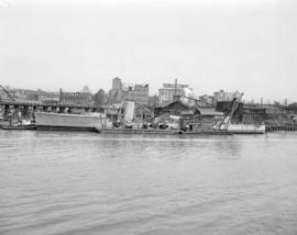 "[H.M.C.S. ""Vancouver"" being dismantled at the Gulf of Georgia Towing Company on False C..."