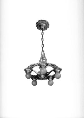 Chandelier [in the] Letter Shop [at 103-615 West Pender Street]