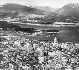 [Aerial view showing the northwestern section of Downtown]