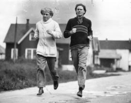 [Welterweight Jimmy McLarnin in training with his brother Bob]