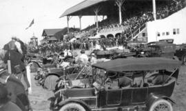 [View of grandstand at Minoru Race Track]