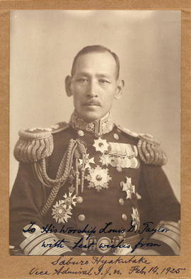 [Head and shoulders portrait of Saburo Hyakutake, Vice Admiral, Imperial Japanese Navy]