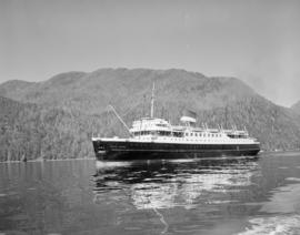C.N.S.S. Prince George in channel near Ocean Falls