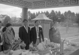 Ching Ming ceremony at cemetery with Chinese Benevolent Association president Bill Yee