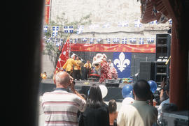 Performance at outdoor stage in Montreal Chinatown