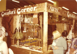 Creators' Corner display booth