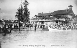 Fancy diving, English Bay, Vancouver, B.C.