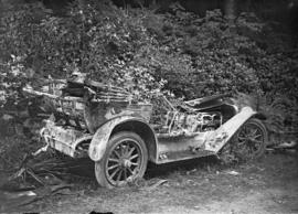 Auto crash [burned out car]