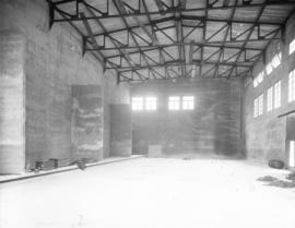 [Interior of Brentwood Bay Steam Plant before installation of equipment]