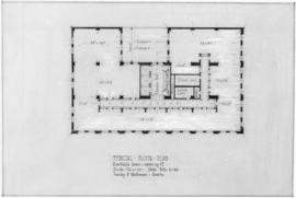 [Photograph of drawing for building at Georgia St.  & Granville St., Vancouver B.C. : typical...