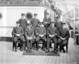 "[Group photo of R.M.S. ""Zealandia"" officers]"