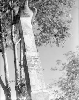 Tombstone of Chief Shake's son, Moses, St. Dionysius, Wrangell, Alaska