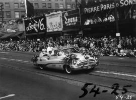 West Vancouver decorated Buick in 1954 P.N.E. Opening Day Parade