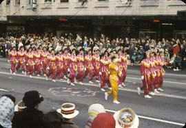 48th Grey Cup Parade, on Georgia and Howe, Vancouver Chinese Girls Drill Team