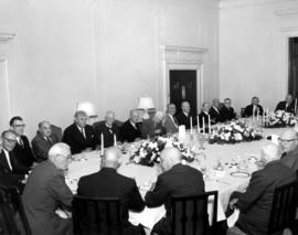 Round Table birthday luncheon for General Victor W. Odlum, right table