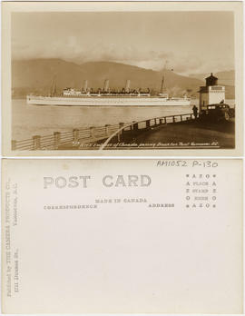 R.M.S. Empress of Canada passing Brockton Point. Vancouver, B.C.