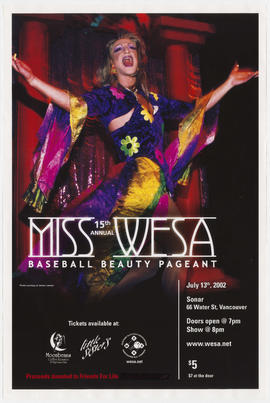 15th annual Miss WESA baseball beauty pageant : July 13th, 2002 : Sonar, 66 Water St.