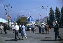 Crowds at Pacific National Exhibition grounds