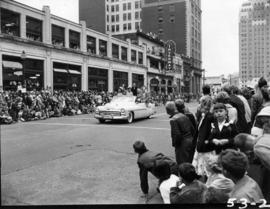 Shrine Circus decorated Mercury in 1953 P.N.E. Opening Day Parade