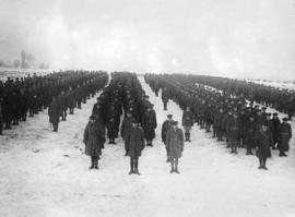 [Canadian soldiers on parade at the Western Front]